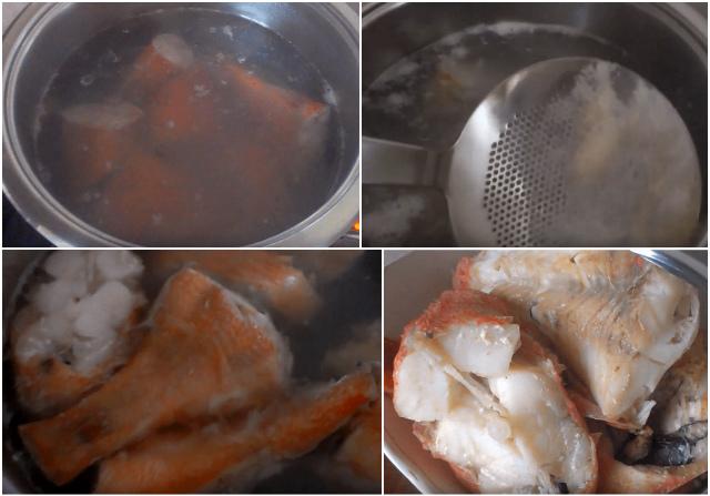 Отвариваем рыбу