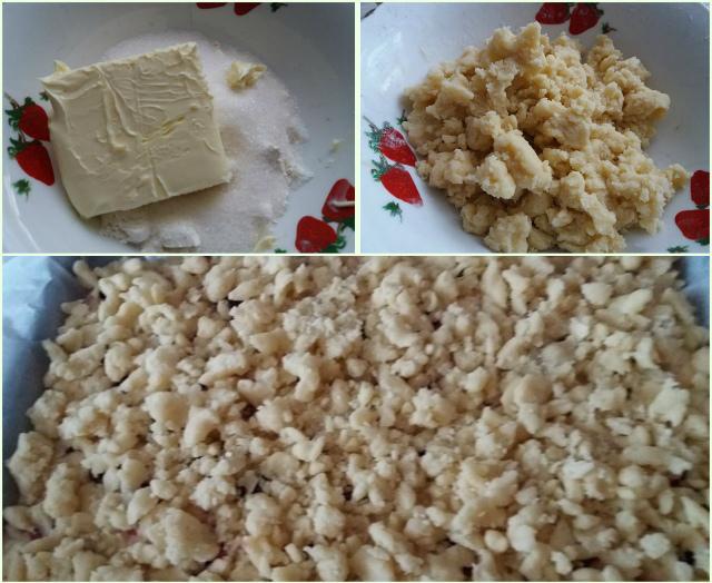 Приготовление посыпки на пирог