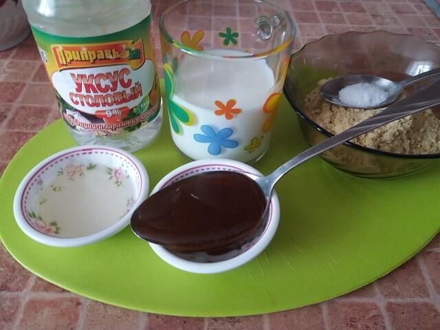 Ингредиенты для приготовления горчицы на молоке