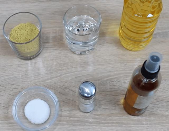 Ингредиенты для горчицы на воде