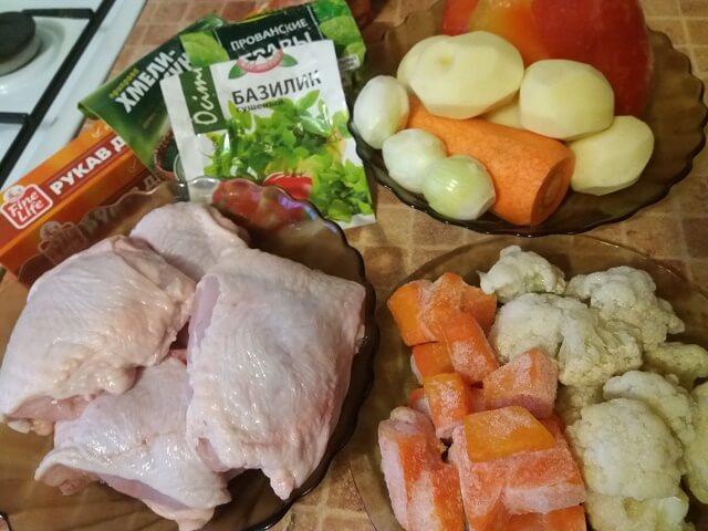 Ингредиенты для запекания куриных бедер