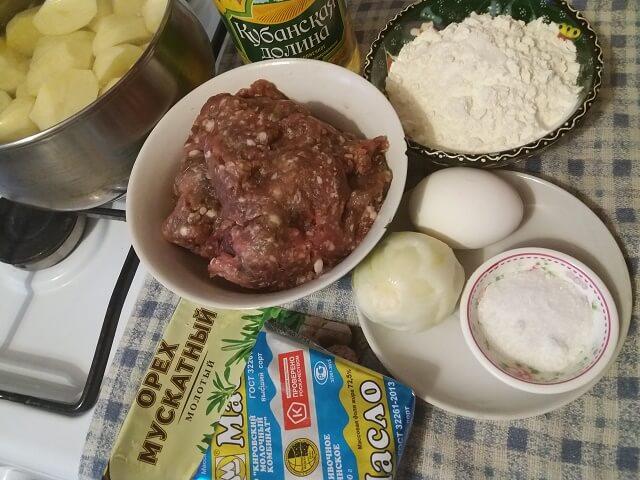 Ингредиенты для картофельных зраз