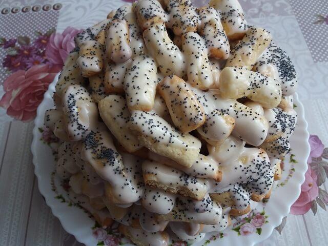 Торт «Поленница» из песочного теста со сметанным кремом