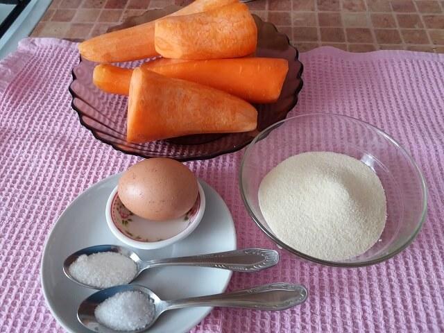 Ингредиенты для морковных котлет