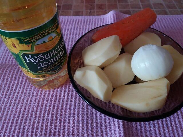 Овощи для картофельного супа-пюре