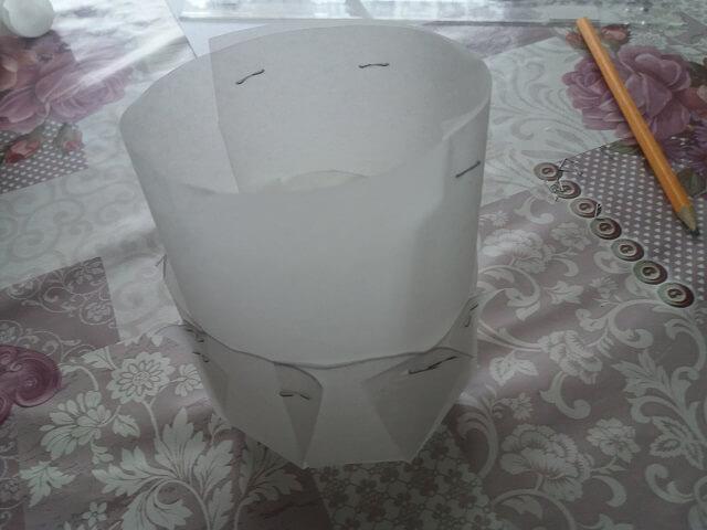 Готовая форма из пергамента для выпечки куличей