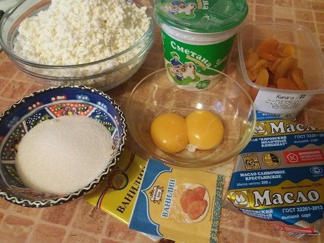 Ингредиенты для Царской творожной пасхи