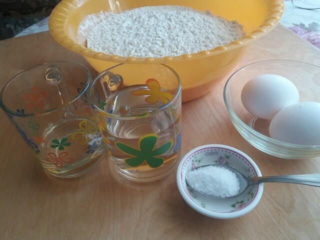 Ингредиенты для пельменного теста