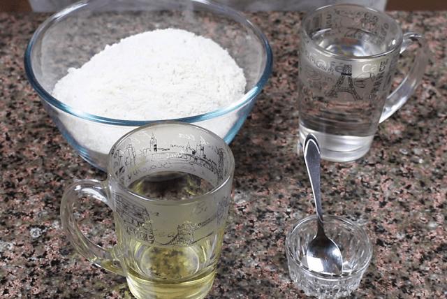 Ингредиенты для заварного теста для пельменей