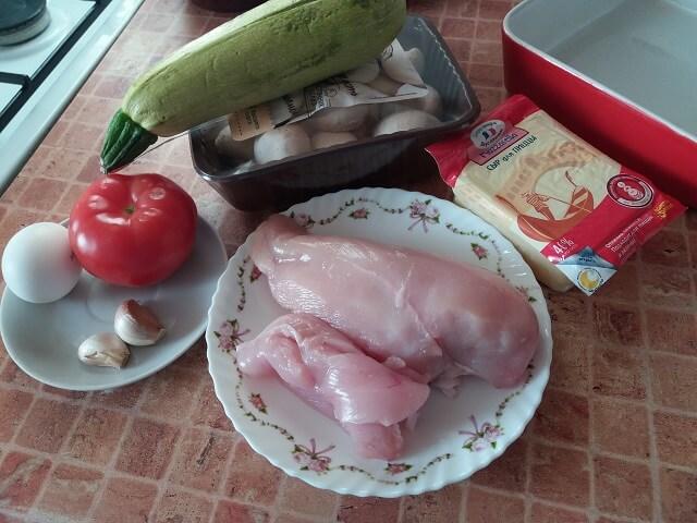 Ингредиенты для мясного пирога из фарша