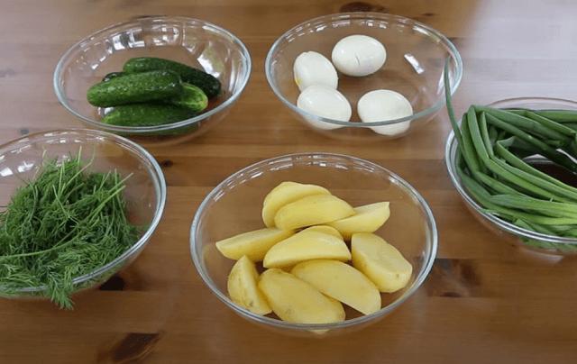 Ингредиенты для заправки свекольника